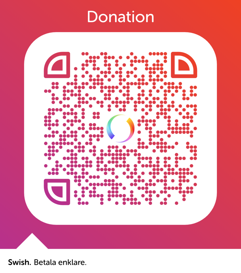 QR-code for donations via Swish